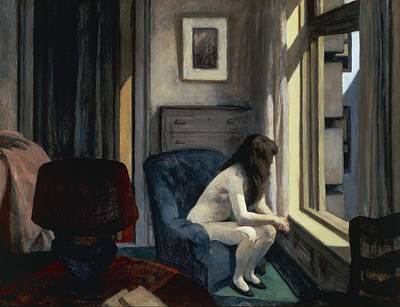 Contemplating Painting - Eleven Am by Edward Hopper