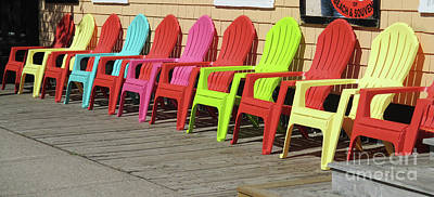 Photograph - Eleven Chairs by Randall Weidner