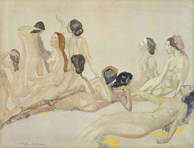 Drawing - Eleven Nudes by Arthur Bowen Davies