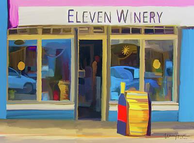 Painting - Eleven Winery 01 Poulsbo Wa by Wally Hampton