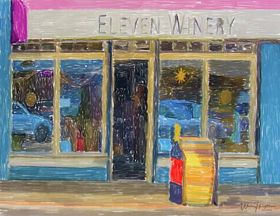 Painting - Eleven Winery 02 Poulsbo Wa by Wally Hampton