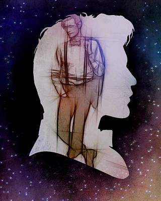 Doctor Who Inspired Eleventh Doctor Silhouette  Art Print by Alondra Hanley