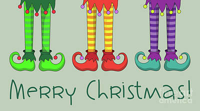 Elf Legs Art Print by Jane Rix