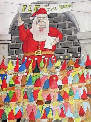 Elf Of The Month Original by Gordon Wendling