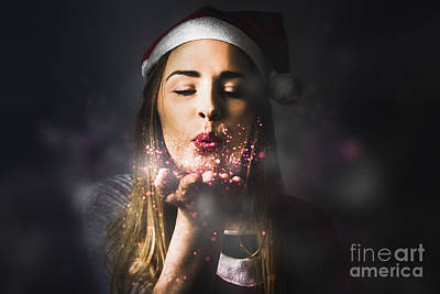 Photograph - Elf Sharing The Magic Of Christmas by Jorgo Photography - Wall Art Gallery