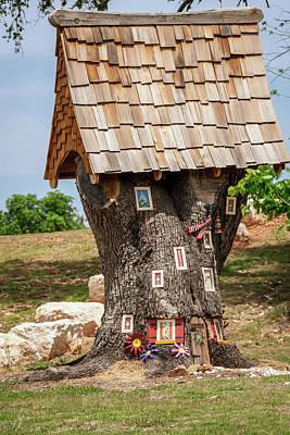 Photograph - Elf Tree House by Debra Martz