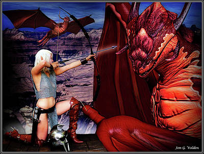 Photograph - Elf Vs Dragon by Jon Volden