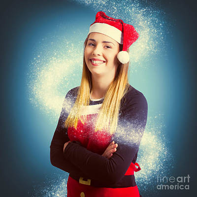 Elf Wrapped Up In The Magic Of Christmas Art Print by Jorgo Photography - Wall Art Gallery