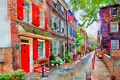 Elfreths Alley Art Print