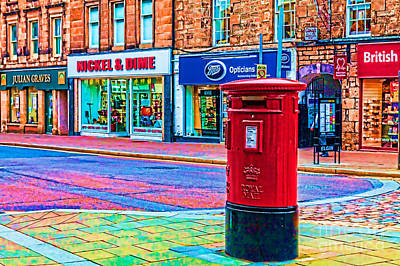 Photograph - Elgin Pillar Box by Diane Macdonald