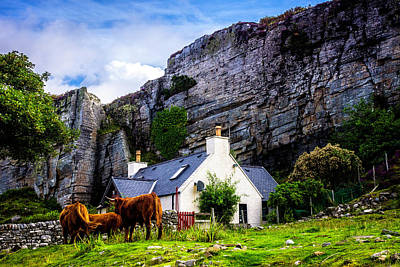 Photograph - Elgol Cottage, Skye by Andy Beattie Photography
