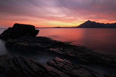 Photograph - Elgol Sunset - Isle Of Skye by Grant Glendinning