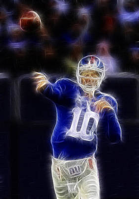 Eli Manning Art Print by Paul Ward