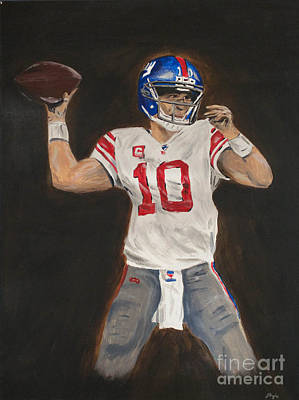 Painting - Eli Manning by Steven Dopka