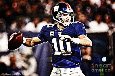 Eli Manning Art Print by The DigArtisT