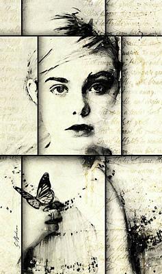 Young Digital Art - Eliannah Con Mariposa by Gary Bodnar