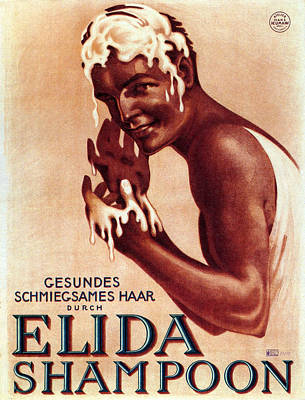 Mixed Media - Elida Shampoon - Austrian Shampoo Poster - Vintage Advertising Poster by Studio Grafiikka