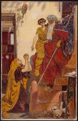 Elijah And The Widow's Son By Ford Madox Brown, 1864 Art Print by Celestial Images