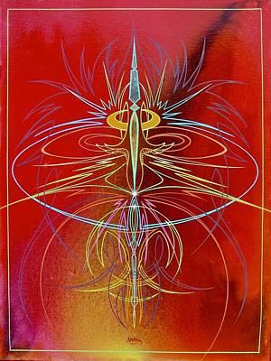 Painting - Elijah's Whirl Wind  by Alan Johnson