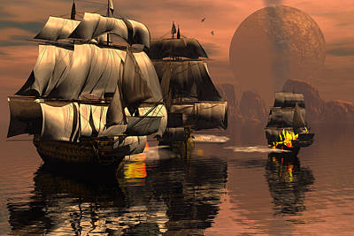 Eliminating The Pirates Art Print by Claude McCoy