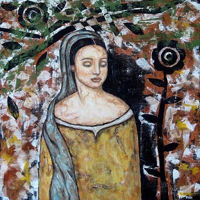 Christian Art . Devotional Art Painting - Eliora by Rain Ririn