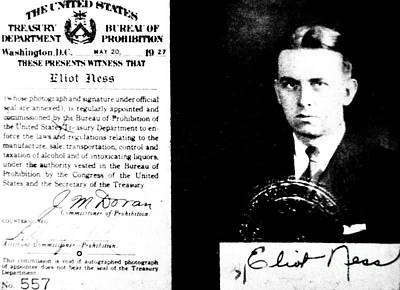 Autograph Photograph - Eliot Ness by American School