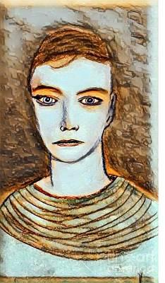 Drawing - Elise 2 by Manuel Matas
