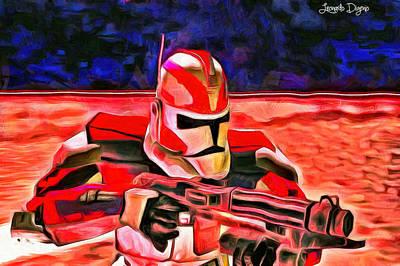 Fighters Digital Art - Elite Trooper - Pa by Leonardo Digenio