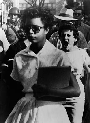 Racism Photograph - Elizabeth Eckford, One Of The Nine by Everett