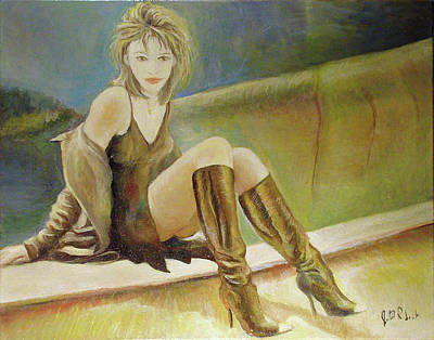 Painting - Elizabeth Hurley by Jean-Marc Robert