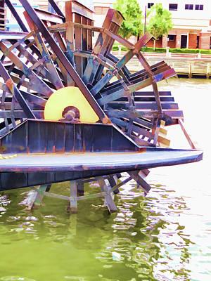 Elizabeth River Ferry Paddlewheel 4 Art Print