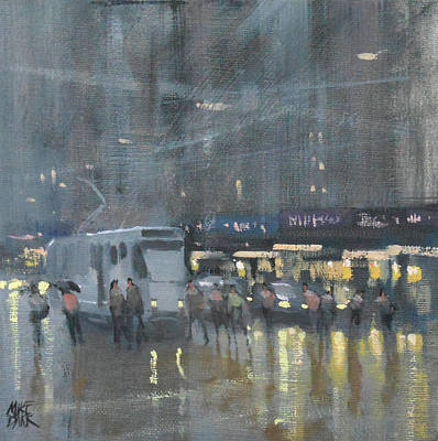 Wall Art - Painting - Elizabeth Street, Melbourne by Mike Barr