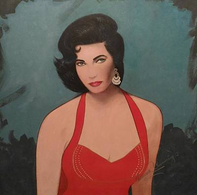 Painting - Elizabeth Taylor - Absolutely Beautiful by Patricia Brewer-Cummings