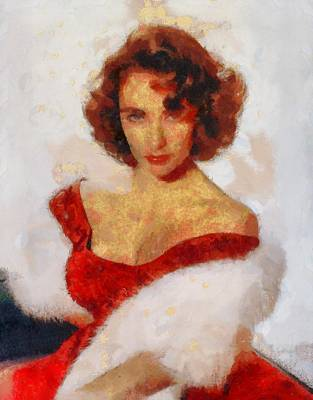 Actors Royalty-Free and Rights-Managed Images - Elizabeth Taylor Actress by Esoterica Art Agency