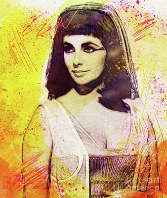 Recently Sold - Musicians Royalty Free Images - Elizabeth Taylor as Cleopatra Royalty-Free Image by Esoterica Art Agency