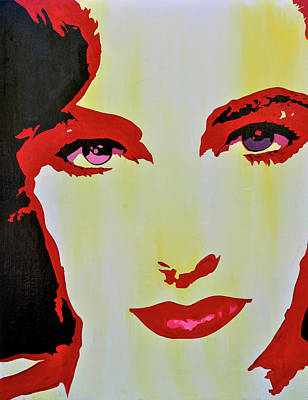 Elizabeth Taylor Painting - Elizabeth Taylor by Brad Jensen