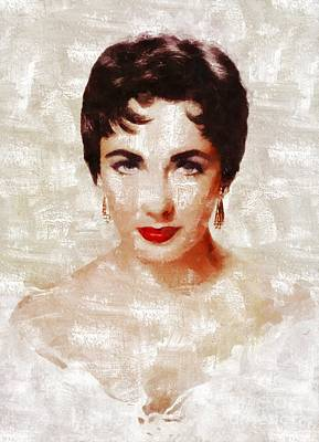 Actors Royalty-Free and Rights-Managed Images - Elizabeth Taylor by Mary Bassett by Mary Bassett