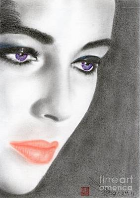 Art Print featuring the drawing Elizabeth Taylor by Eliza Lo