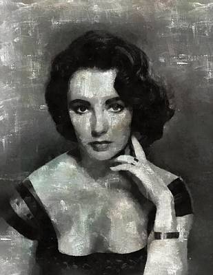 Celebrities Royalty-Free and Rights-Managed Images - Elizabeth Taylor by Esoterica Art Agency