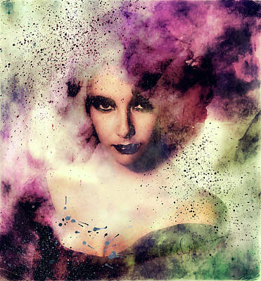Painting - Elizabeth Taylor Grunge Abstract Realism by Georgiana Romanovna