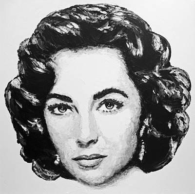 Elizabeth Taylor Painting   Elizabeth Taylor By Havi