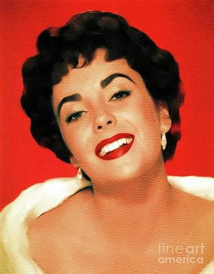 Actors Royalty-Free and Rights-Managed Images - Elizabeth Taylor, Hollywood Legend by Mary Bassett