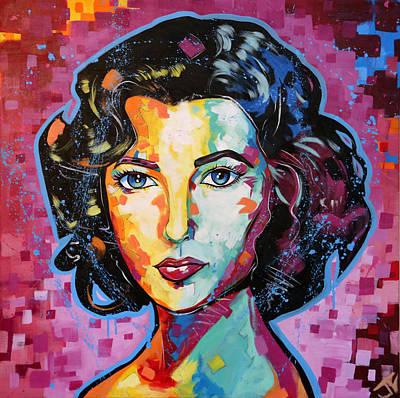 Painting - Elizabeth Taylor by Jay V Art