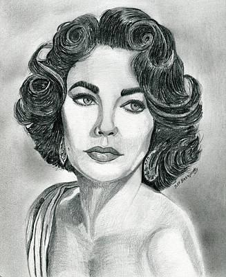 Elizabeth Taylor Print by Jeff Blazejovsky
