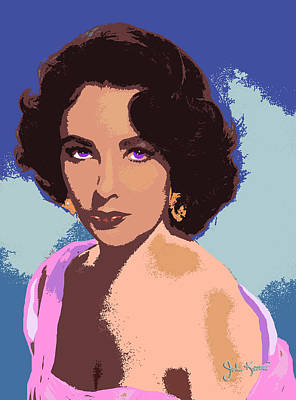 Print featuring the painting Elizabeth Taylor by John Keaton