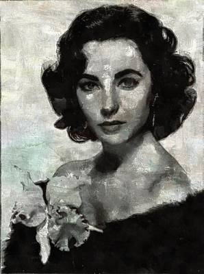 Taylor Painting - Elizabeth Taylor by Mary Bassett
