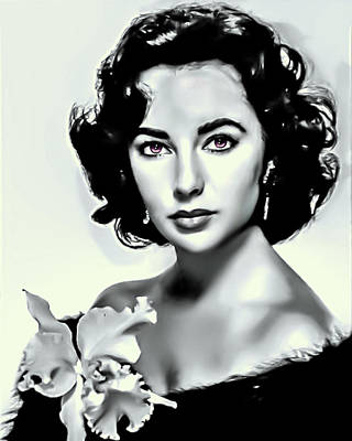 Elizabeth Taylor Digital Art - Elizabeth Taylor by Movie Poster Prints