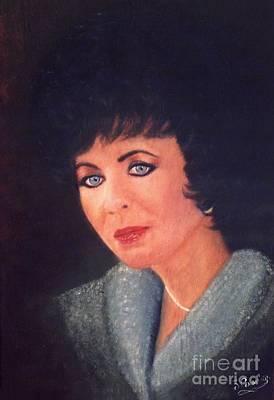 Elizabeth Taylor Portrait Original by Liam O Conaire