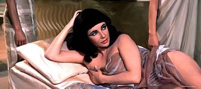 Digital Art - Elizabeth Taylor Star In The Film Cleopatra by Gabriel T Toro