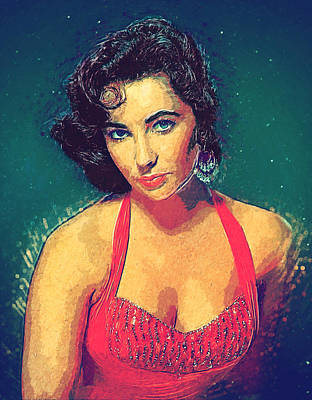 Grace Kelly Digital Art - Elizabeth Taylor by Taylan Apukovska